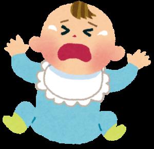 泣き出す赤ちゃん