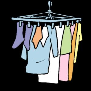 洗濯物を干すイラスト