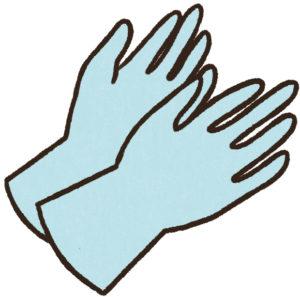ゴムの手袋