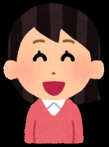 笑う女性のイラスト