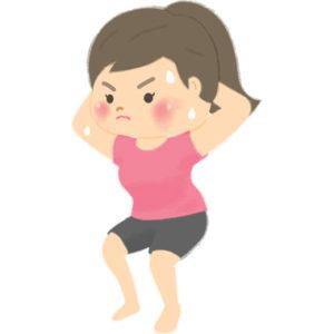 ダイエットする女性のイラスト