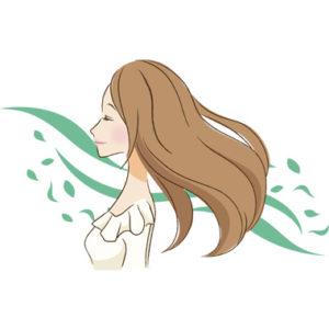 美しい髪の女性のイラスト