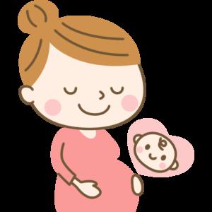 妊娠するママのイラスト