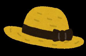 麦わら帽子のイラスト