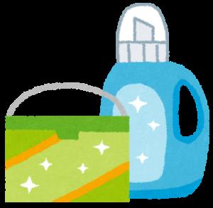 粉洗剤と液体洗剤のイラスト