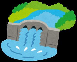 ダムのイラスト