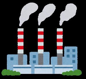 火力発電所のイラスト