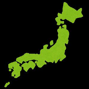 日本列島のイラスト