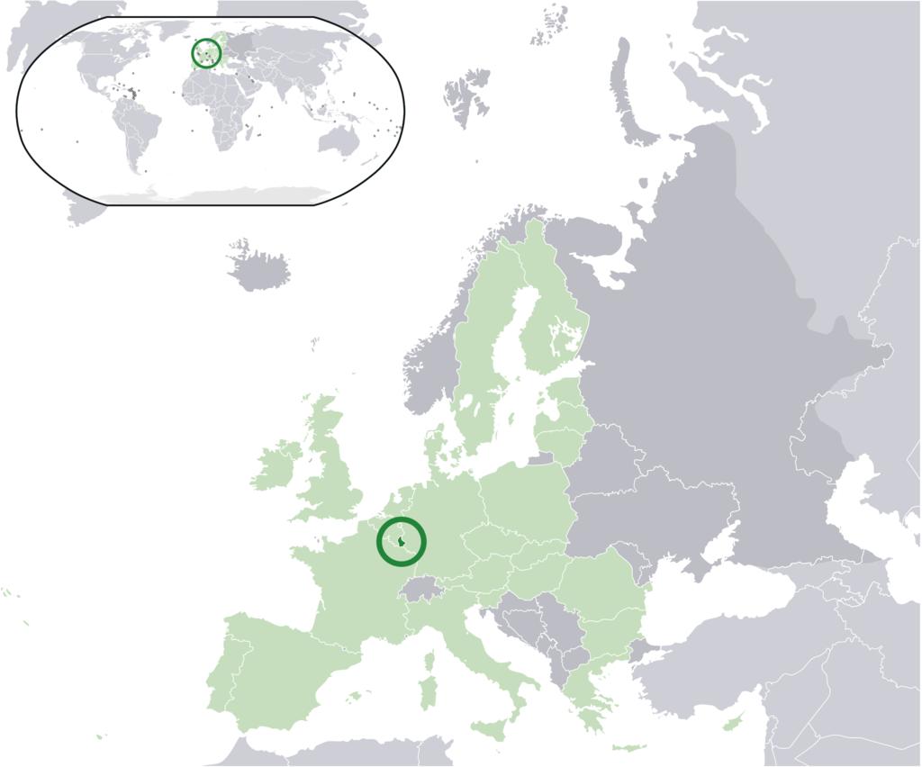 ルクセンブルクの位置