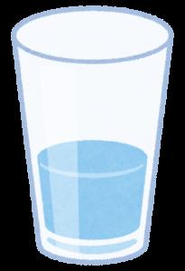 コップに入った水のイラスト