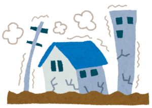 地震のイラスト