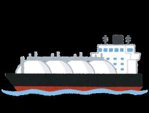 天然ガスタンカーのイラスト
